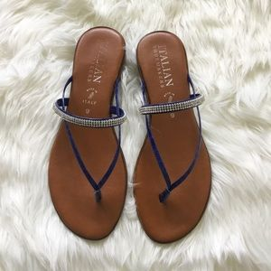 Diamond Sandals Flip Flops Italian Shoemakers NIB